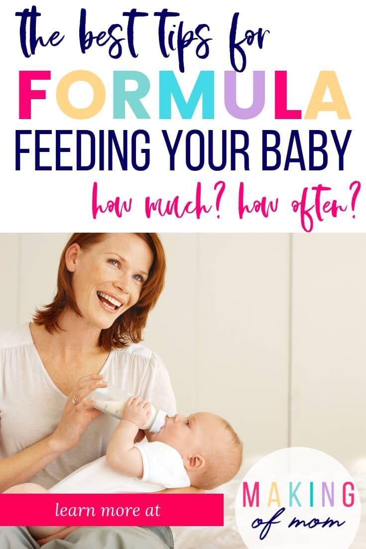 Formula Feeding Baby: How Much How Often? | Formula ...