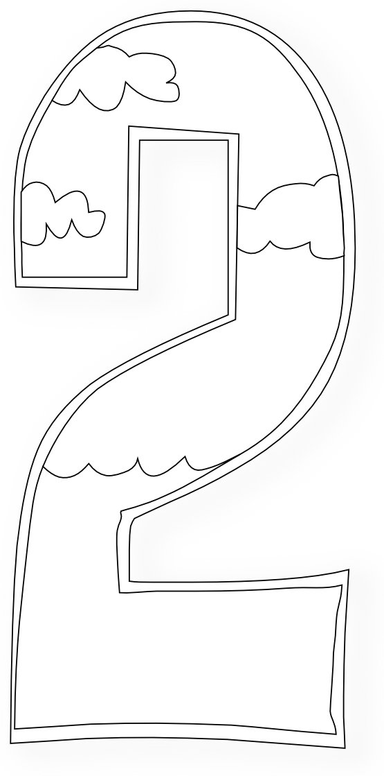 creation days numbers 2 coloring book colouring black white line art 555pxpng i - Creation Coloring Pages 2