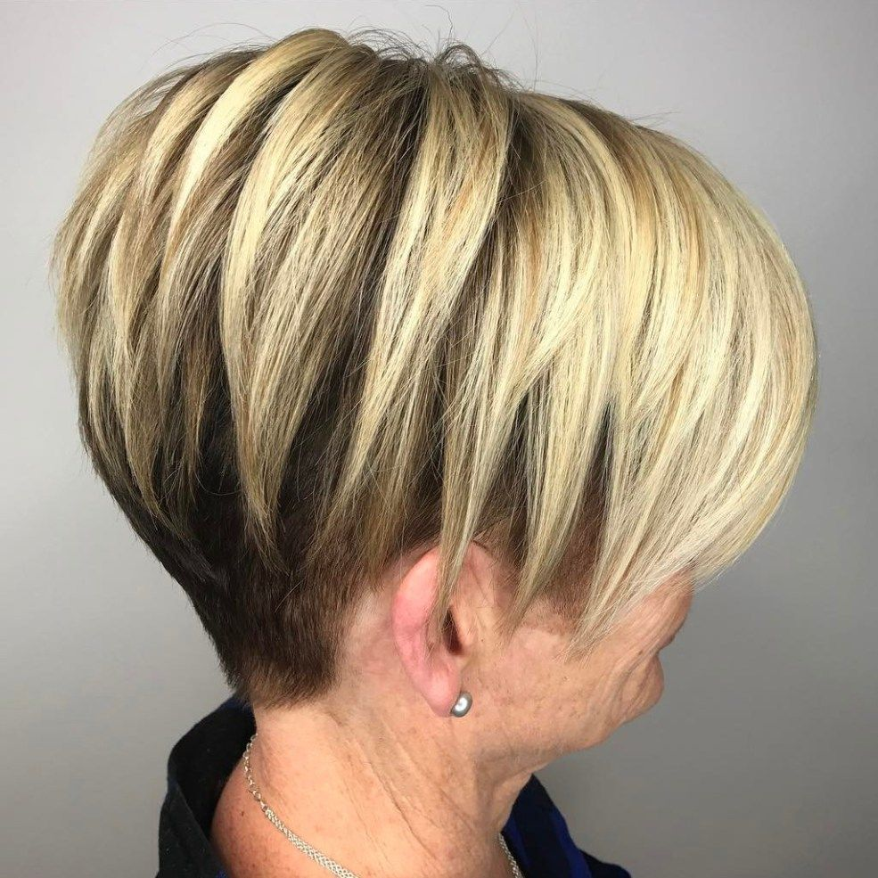 Undercut Pixie Bob For Older Women Undercut Hairstyles Women Undercut Hairstyles Short Hair Styles