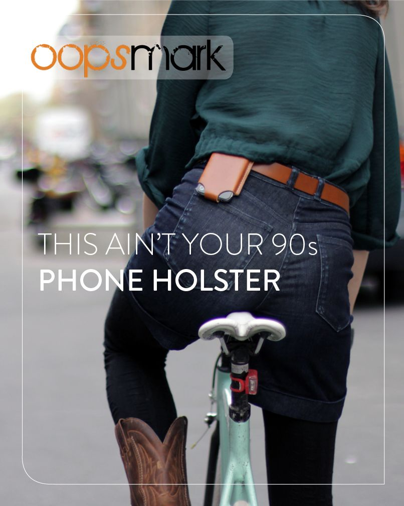 This low profile #iPhoneHolster makes it easier to access your phone when biking, sitting or standing. It was designed to be as slim as possible so you won't even know it's there. Say goodbye to the days of having to fish around in your purse or pocket every time you want to access your phone.