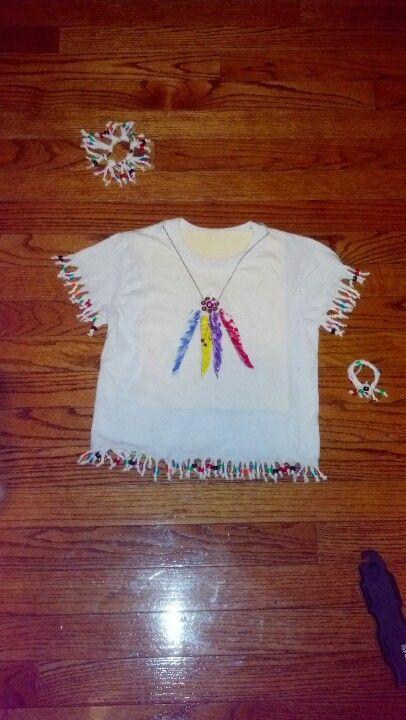 Kindergarten Native American T-shirt idea
