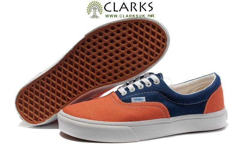 Vans Two-Tone Era Mens Canvas Shoes Orange Blue  92acdb8073a3