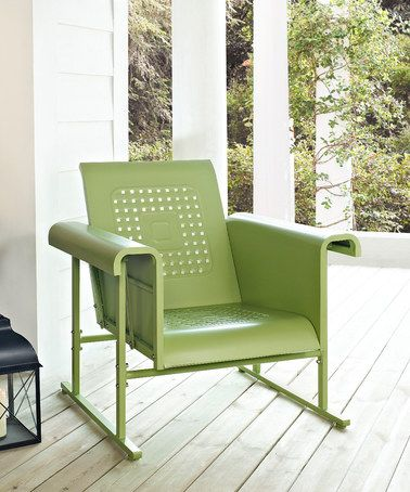 Oasis Green Veranda Glider Chair #zulily #zulilyfinds | For the Home ...