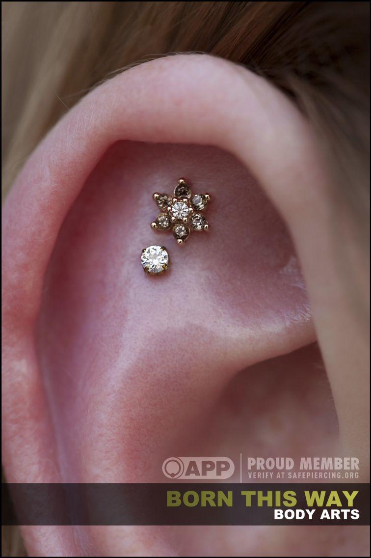 Ear piercing ideas simple  Simple  gorgeous  body modifications  Pinterest  Piercings