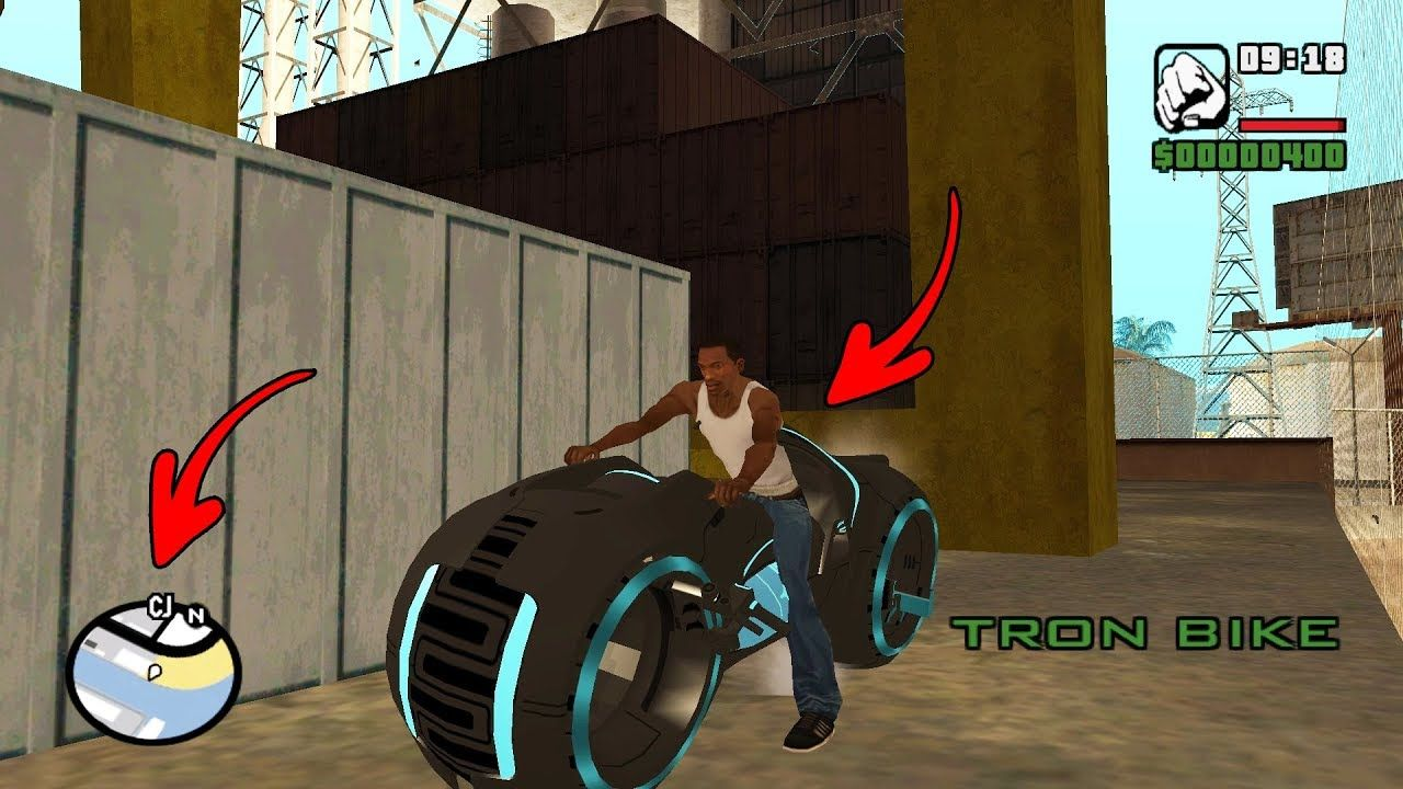 Secret Tron Bike Location In Gta San Andreas Hidden Place