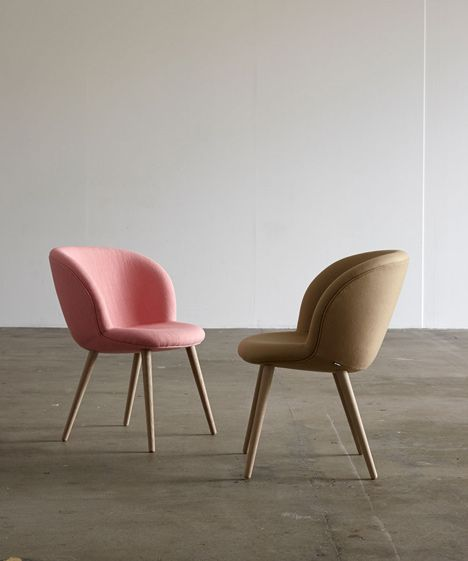 Busk And Hertzog Adds Wooden Legs To Capri Chairs For