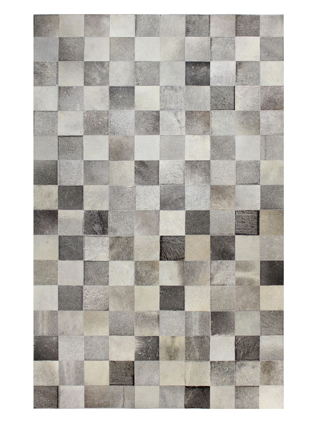 Square Patch Cowhide Hand-Stitched Rug by Bashian Rugs at Gilt