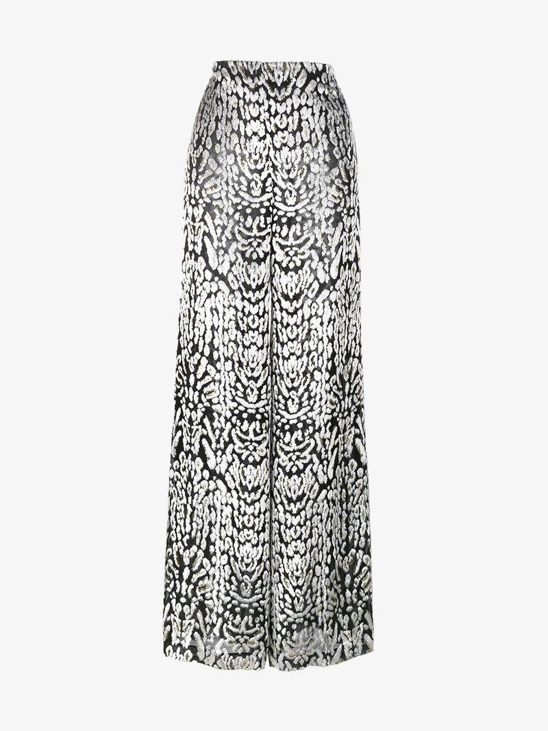 Ocelot velvet palazzo trousers - Black Adam Lippes BKHrbbi