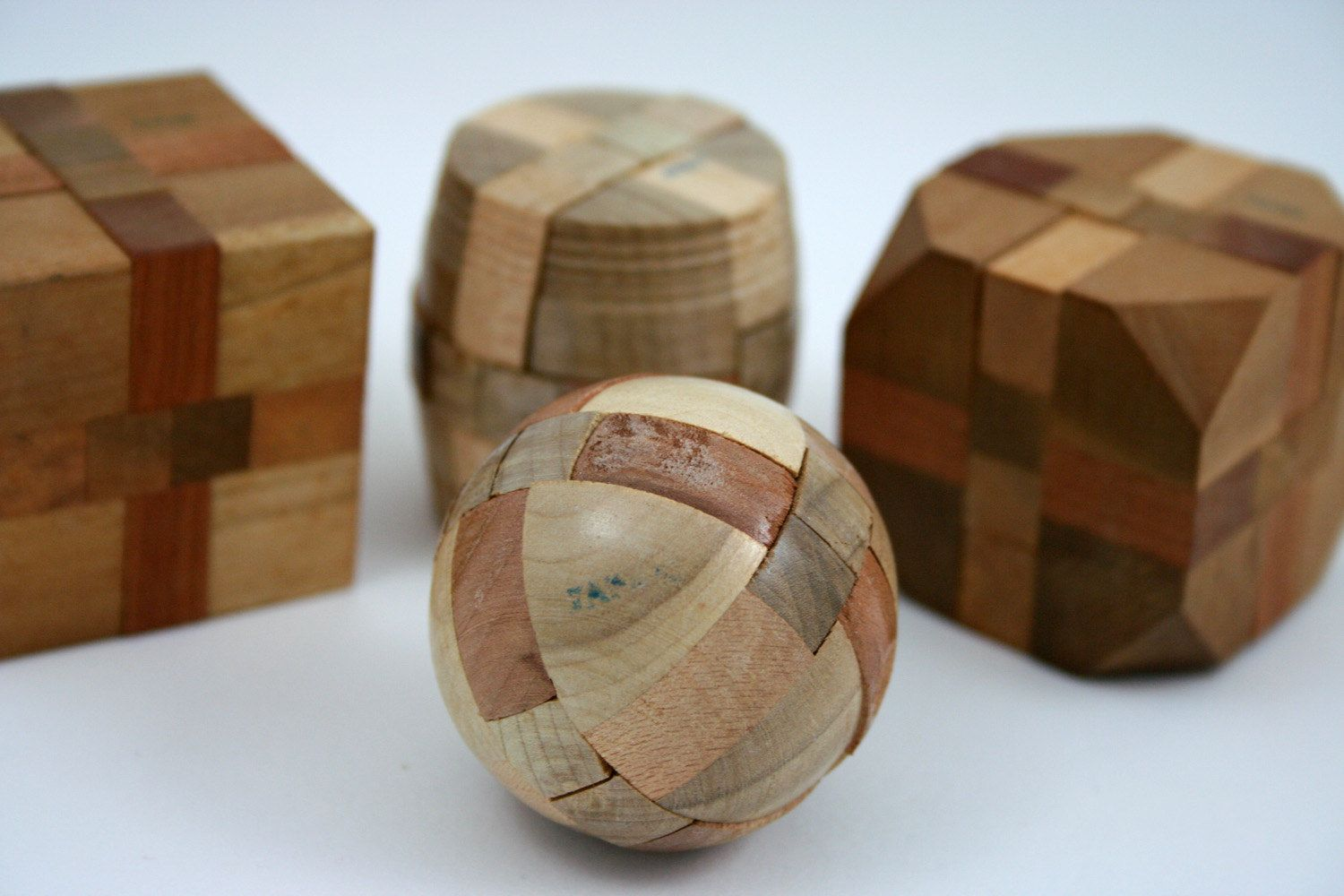 vintage japanese wood puzzle instant collection, cube