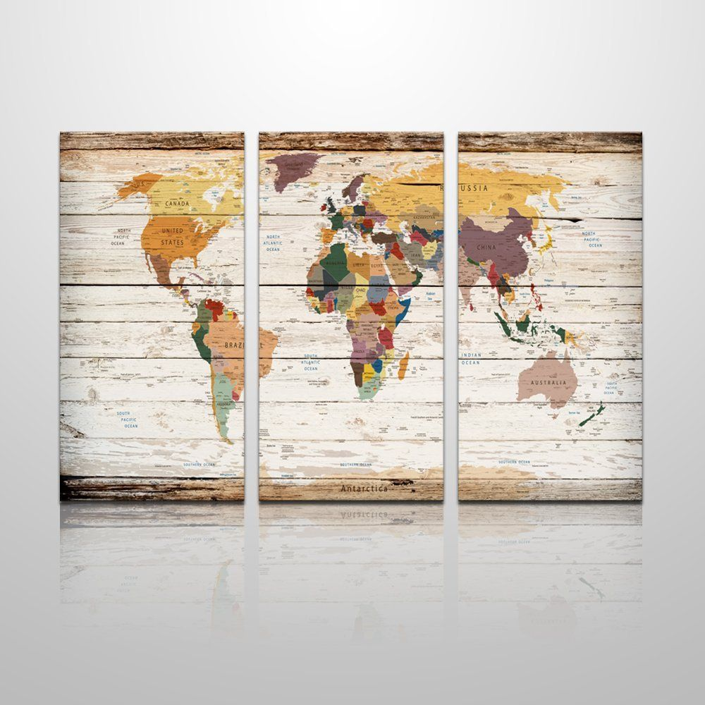Amazon xlarge vintage world map canvas prints atlas framed map amazon xlarge vintage world map canvas prints atlas framed map wall art decor gumiabroncs Images