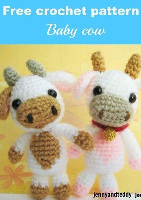 Free Crochet Amigurumi Pattern Baby Cow By Jennyandteddy Crochet