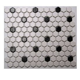 American Olean 10 Pack 12 X Satinglo Hex White Black Ceramic Floor Tile Bathroom Or Kitchen It Would Be In Keeping With The 1940s Feel Of