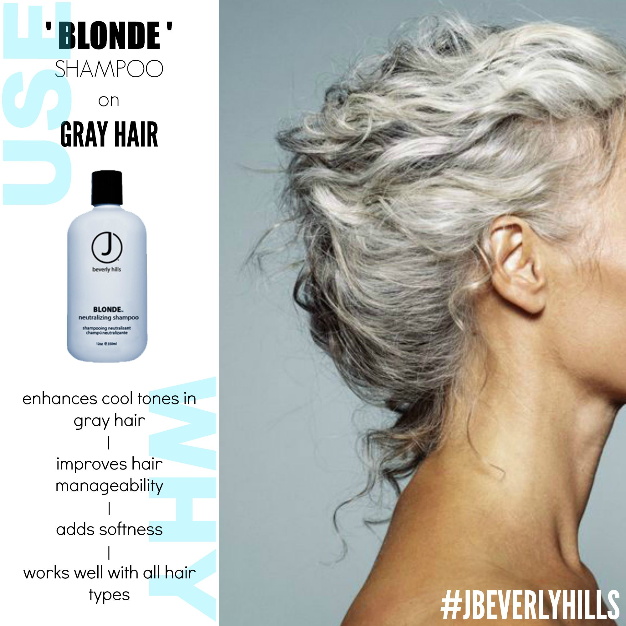 J Beverly Hills BLONDE SHAMPOO BLONDE shampoo enhances the cool ...