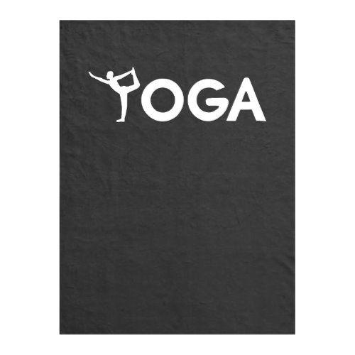 Womens Yoga T-Shirt Fleece Blanket | Zazzle.com