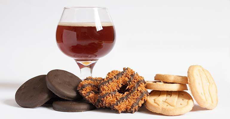 Amazing & Brilliant: Beer Pairings with GIRL SCOUT Cookies. http://beerandbrewing.com/beer-pairings-girl-scout-cookies/