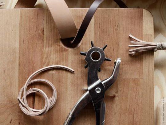 IKEA Is All About DIY Leather Handles on Their New Wood Cutting Boards   The Kitchn