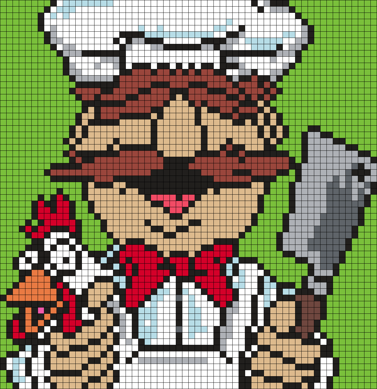 Swedish Chef From The Muppets Perler Bead Pattern Bead Sprite
