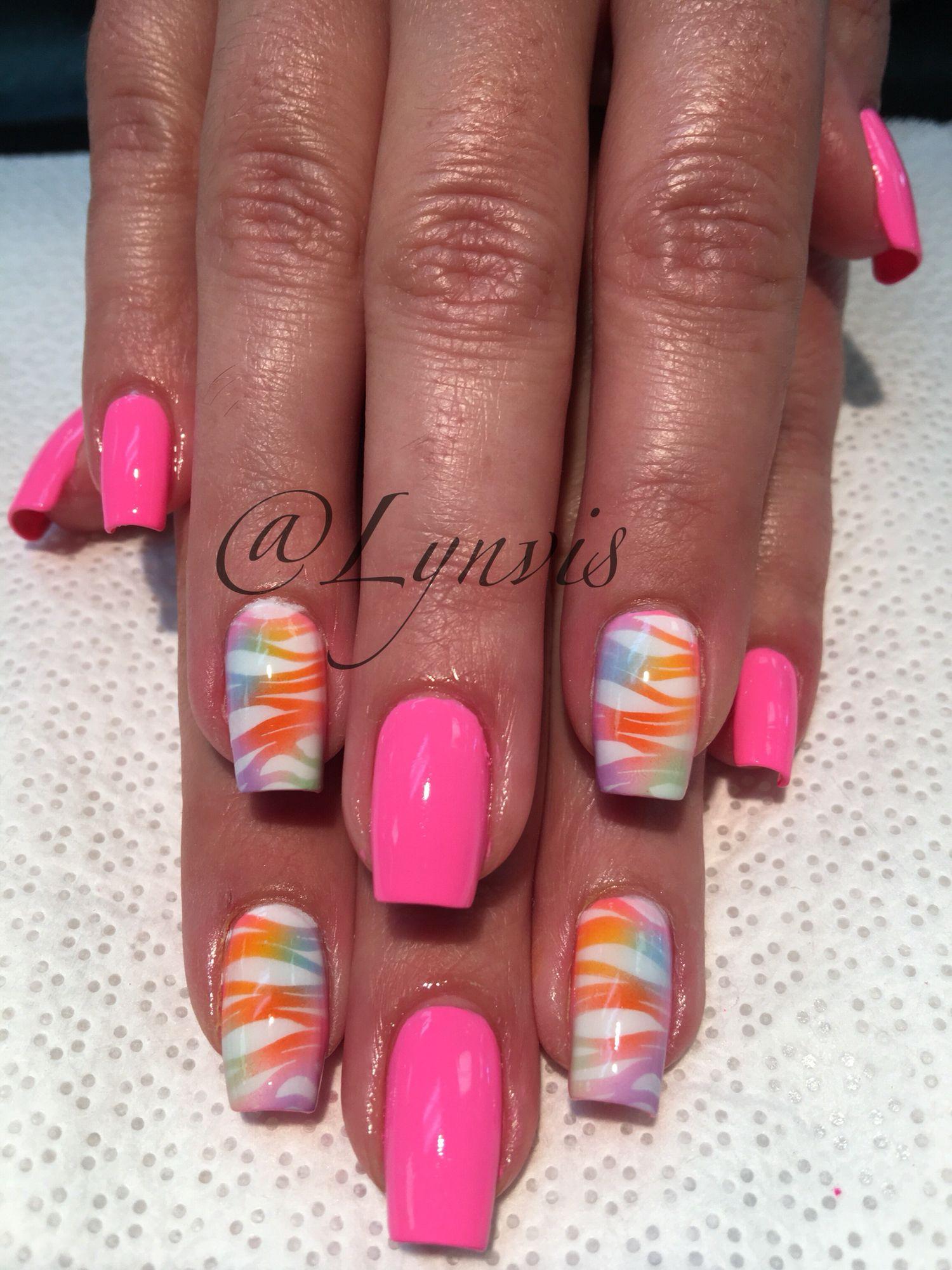 Airbrushed Nailart Nails Pinterest