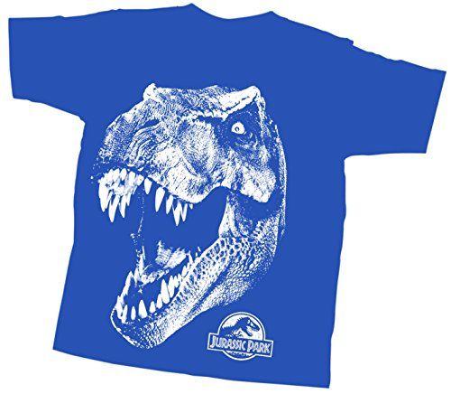 Jurassic Park Trex Head Youth T-Shirt (Youth Large Blue) @ niftywarehouse.com #NiftyWarehouse #JurassicPark #Jurassic #Dinosaurs #Film #Dinosaur #Movies