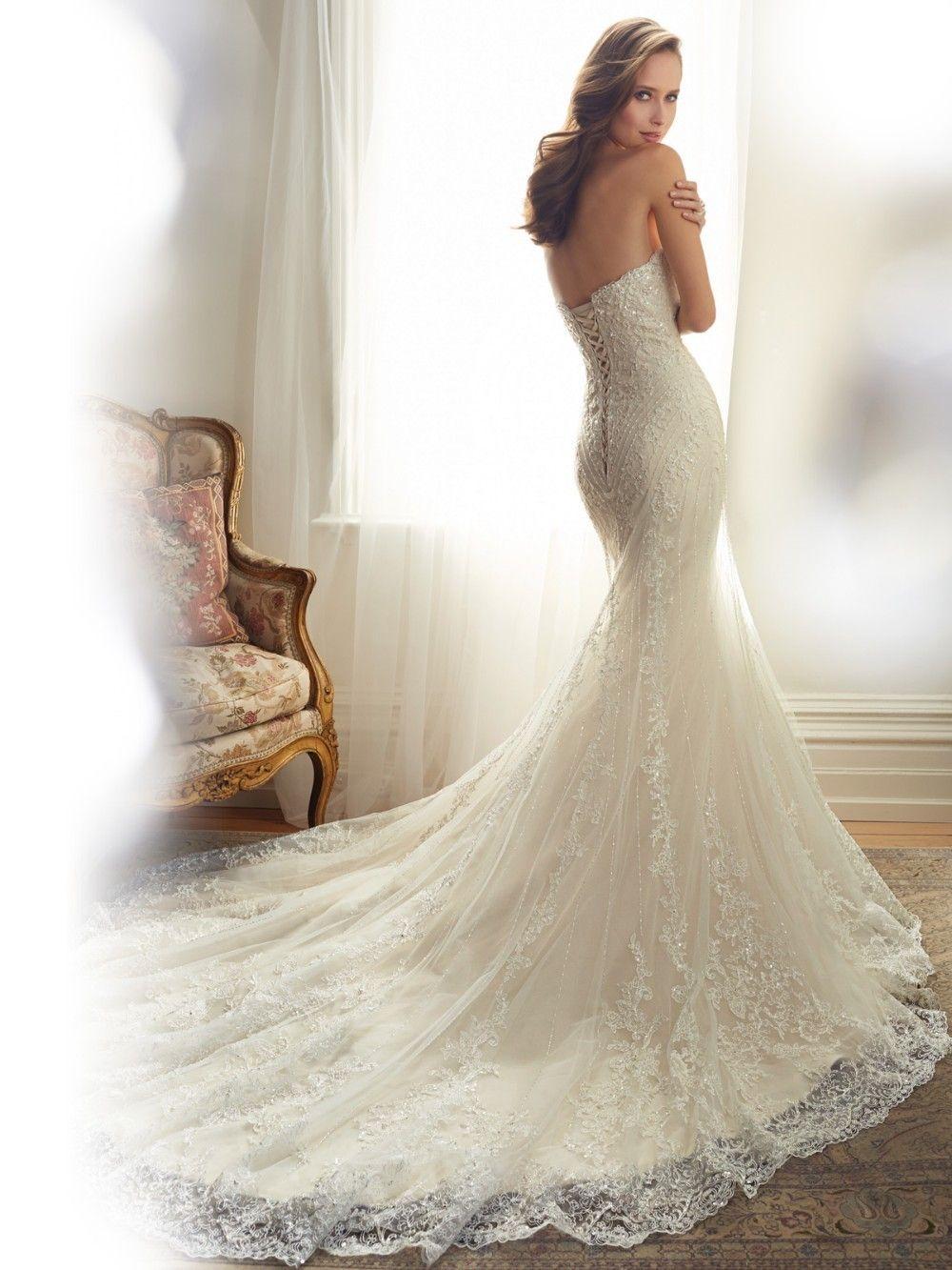 Strapless Lace Up Back Crystal Beading Appliques Lace Mermaid Wedding Dress Uniqistic Com Mermaid Wedding Dress Wedding Dress Styles Online Wedding Dress [ 1333 x 1000 Pixel ]