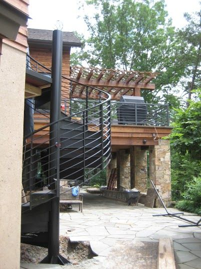 Best Custom Metal Residential Spiral Staircase At Smith 400 x 300
