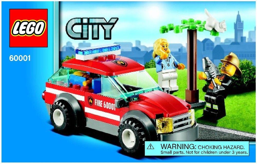 City Fire Chief Car Lego 60001 Lego Fire Veh Pinterest