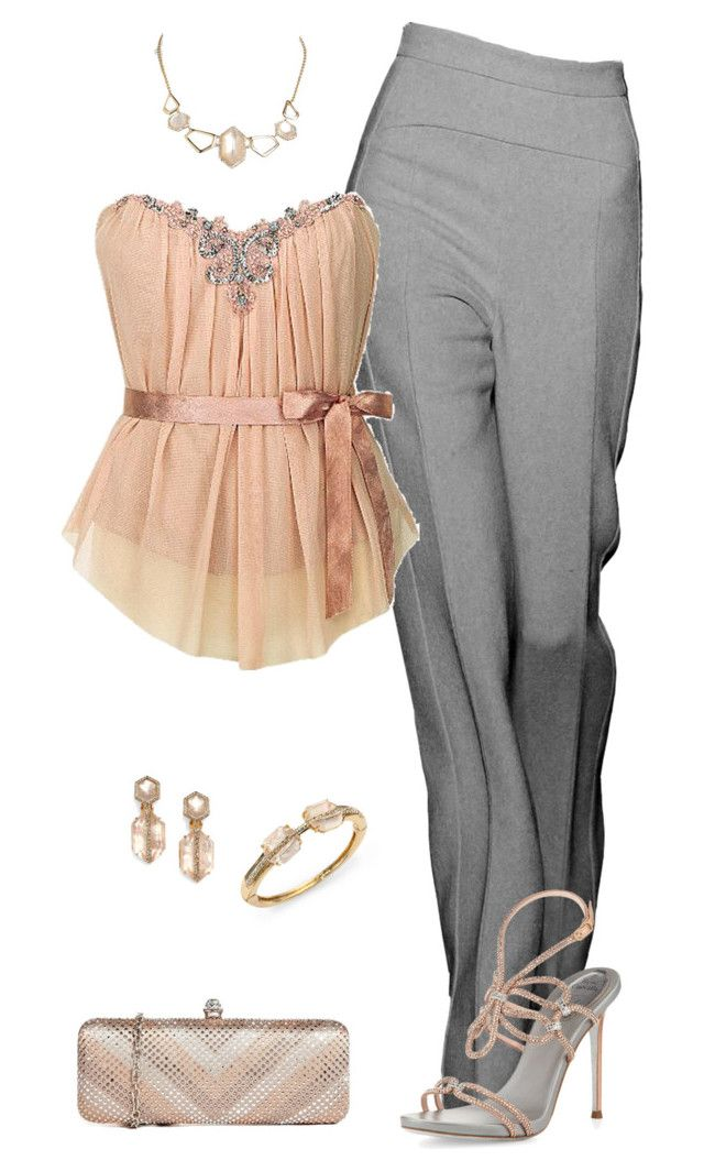 Sin título #1747 by marisol-menahem on Polyvore featuring polyvore moda style René Caovilla Johnny Loves Rosie Alexis Bittar fashion clothing