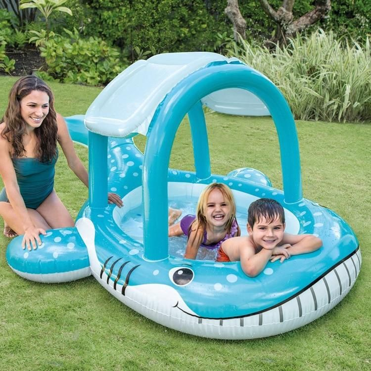 INTEX New Whale Shade Pool Inflatable Swimming Pool Play