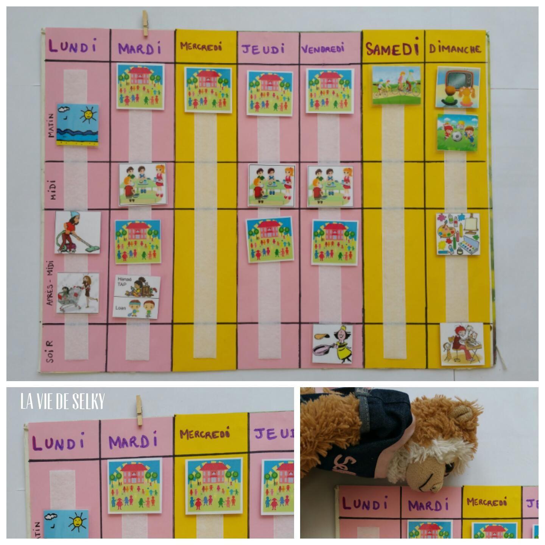 Faire Un Semainier selky fabrique du calendrier pour enfant #diy   calendrier