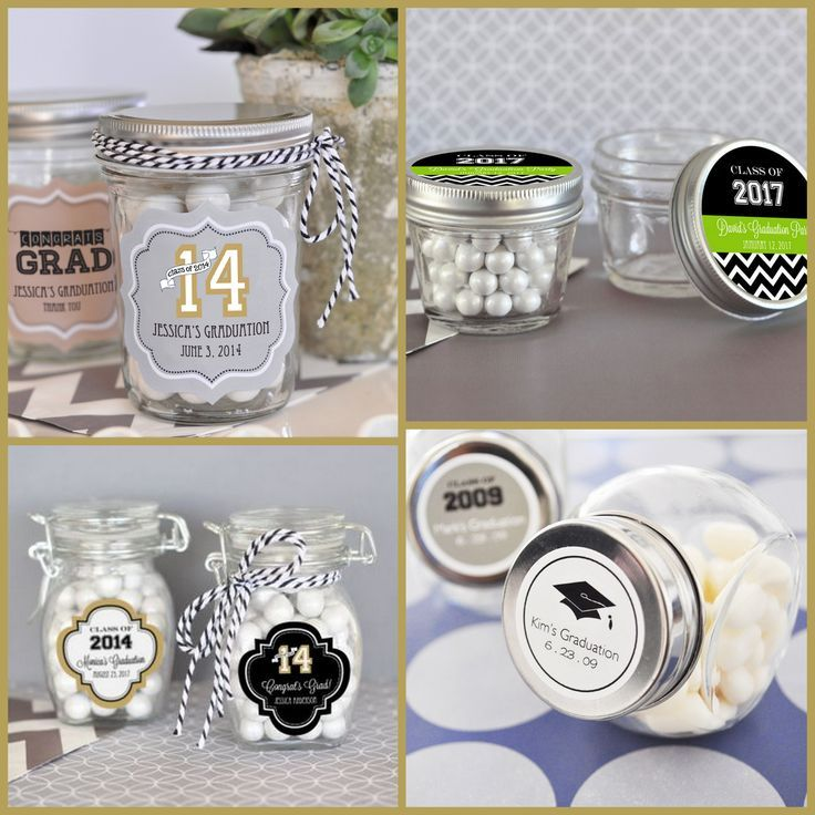 Personalized Graduation Glass Favor Jar For Your Party From HotRef