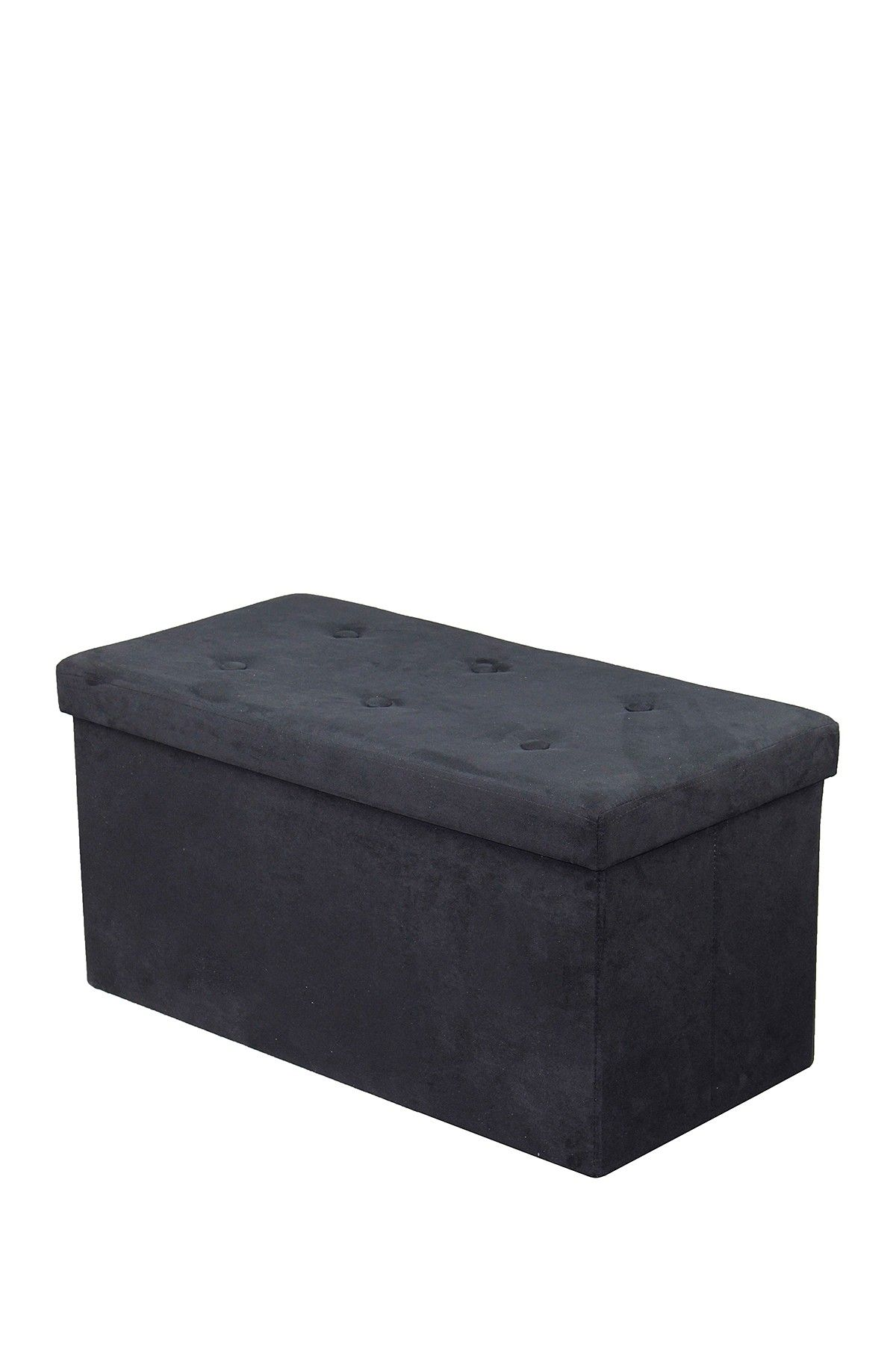 Sorbus Faux Suede Foldable Storage Bench - Black  sc 1 st  Pinterest & Sorbus Faux Suede Foldable Storage Bench - Black | home design ...