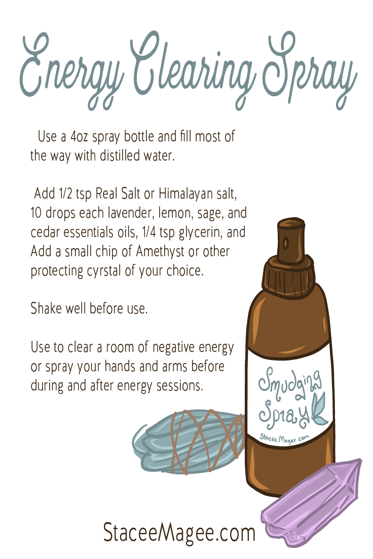 Diy Energy Clearing And Smudging Spray For Clearing