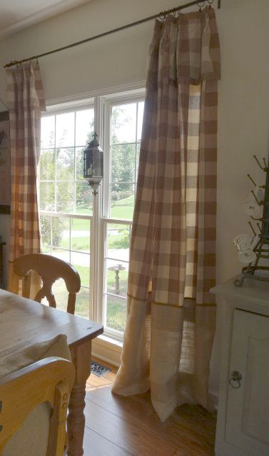 Buffalo Check And Burlap Home Country Dining Rooms Country