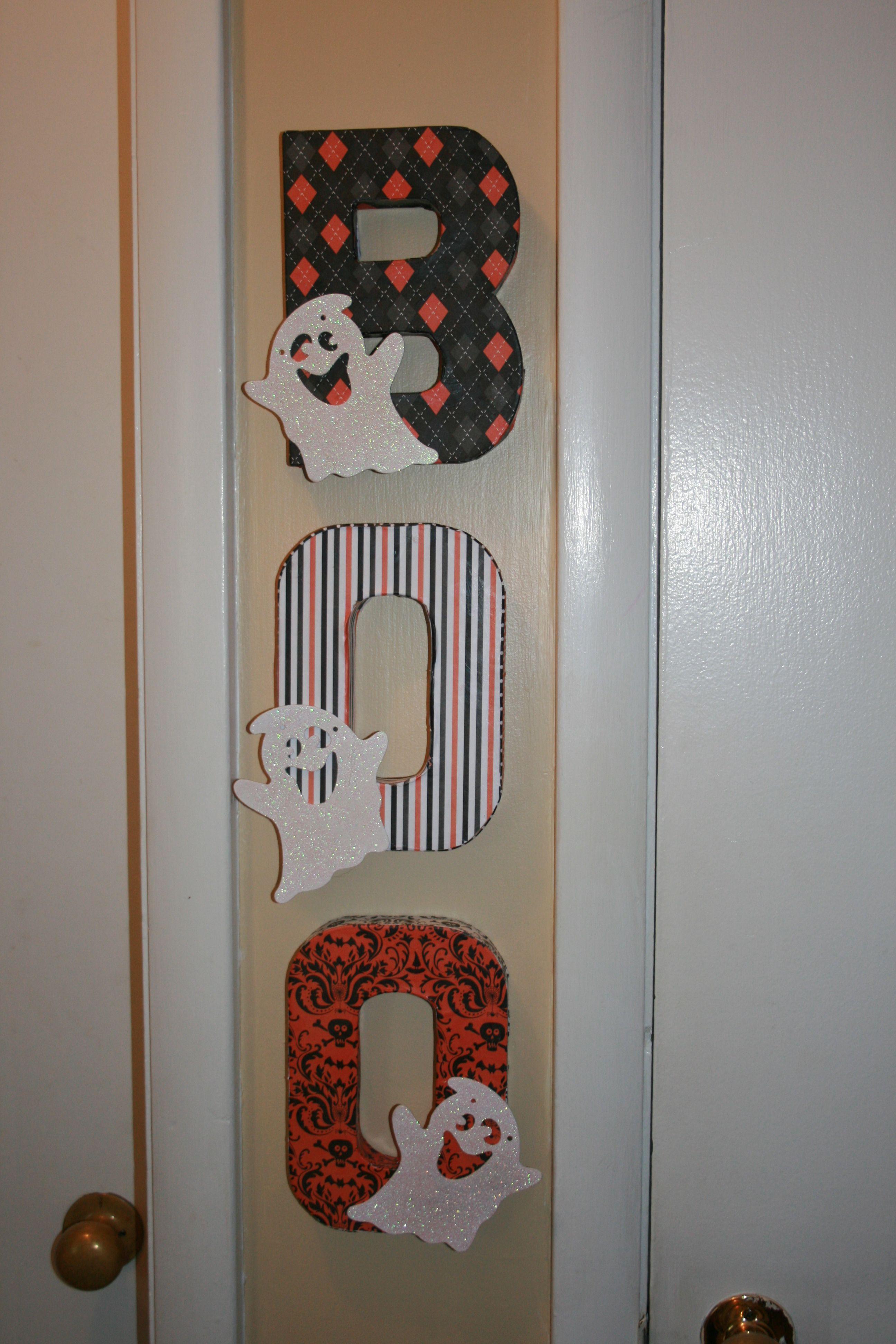 Cardboard Letters From Joanns Scrapbook Paper From Walmart Ghost