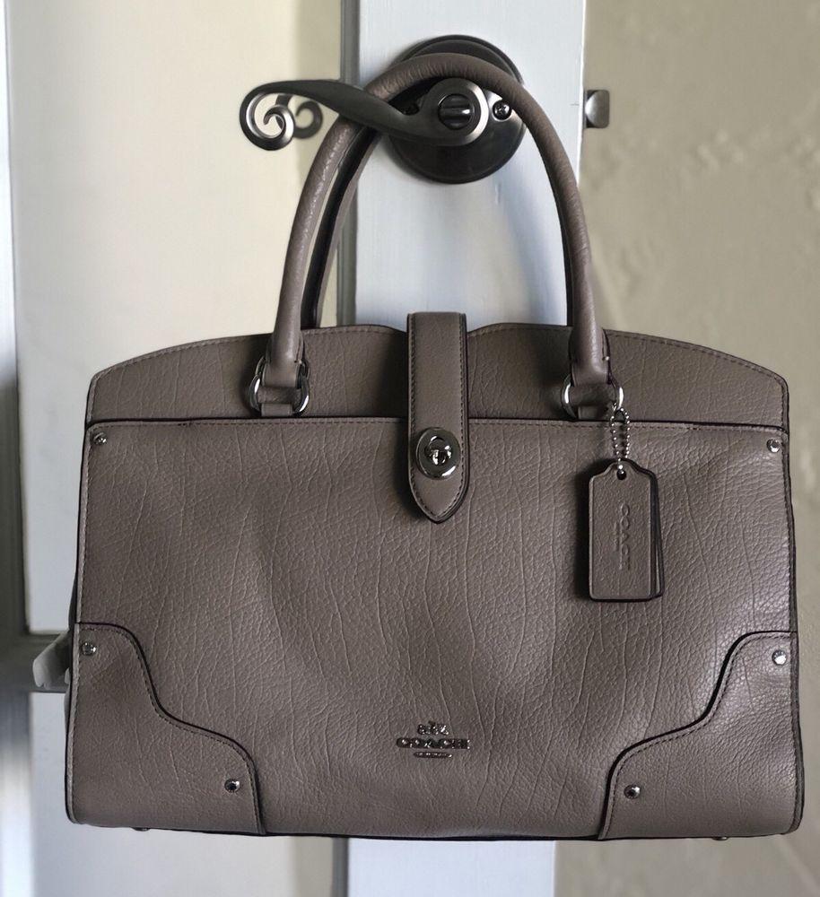 Coach F34608 Signature Small Margot Carryall Khaki Saddle Pvc Ebay In Canvas Handbags Pinterest Bags And