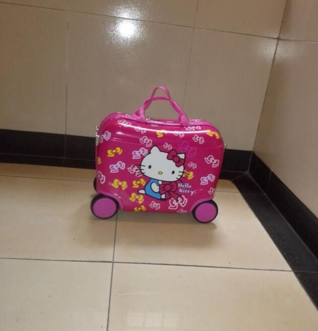 b64b388387 New fashion luggage children hello kitty suitcase cartoon animation luggage  with rolls