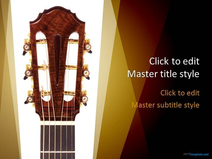Creative Free Guitar PPT Template for presentations on Music #PPT ...