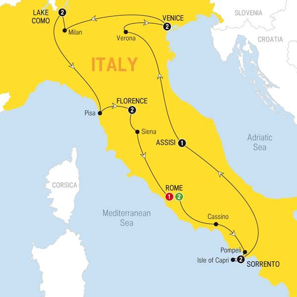13 Day Tour In Italy With Itinerary Reisen Und Italien