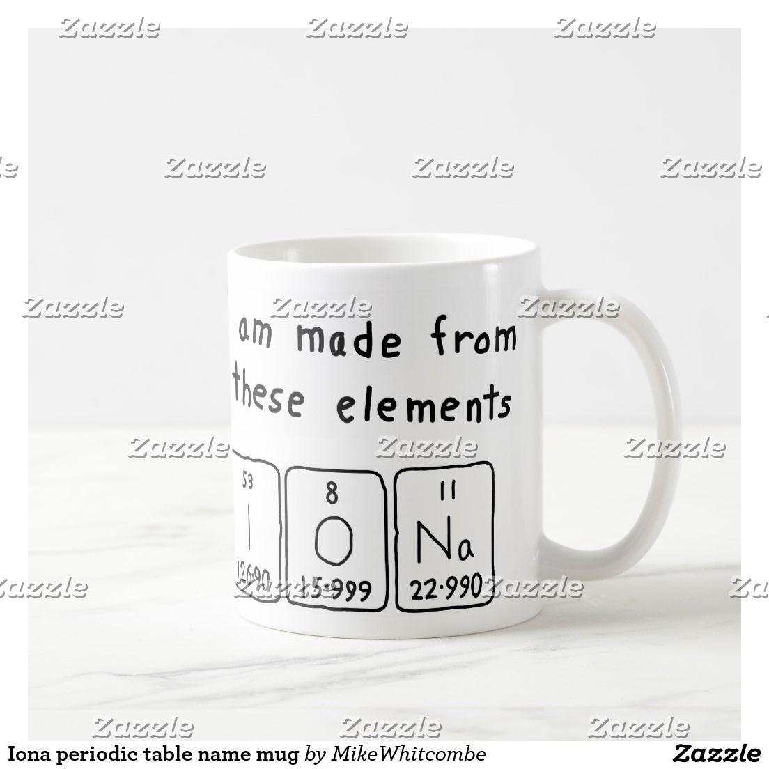Iona periodic table name mug periodic table iona periodic table name mug urtaz Image collections