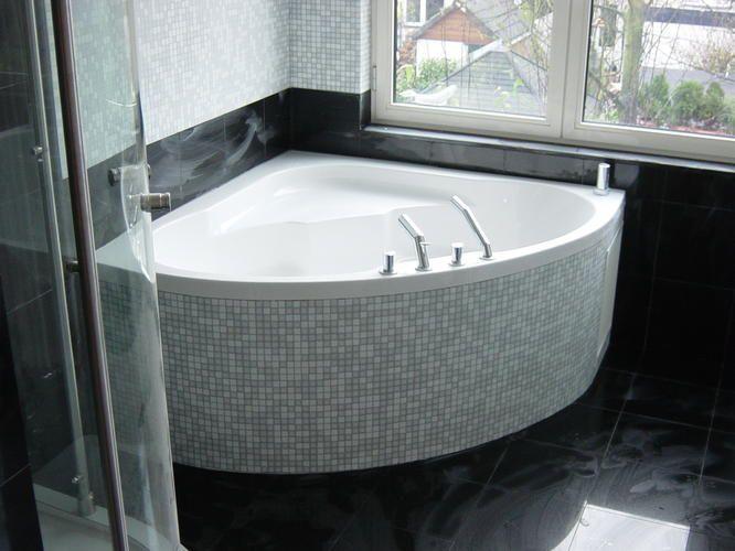 Mooi hoekbad - In Home | Pinterest - Hoekbad, Badkamer en Badkamers