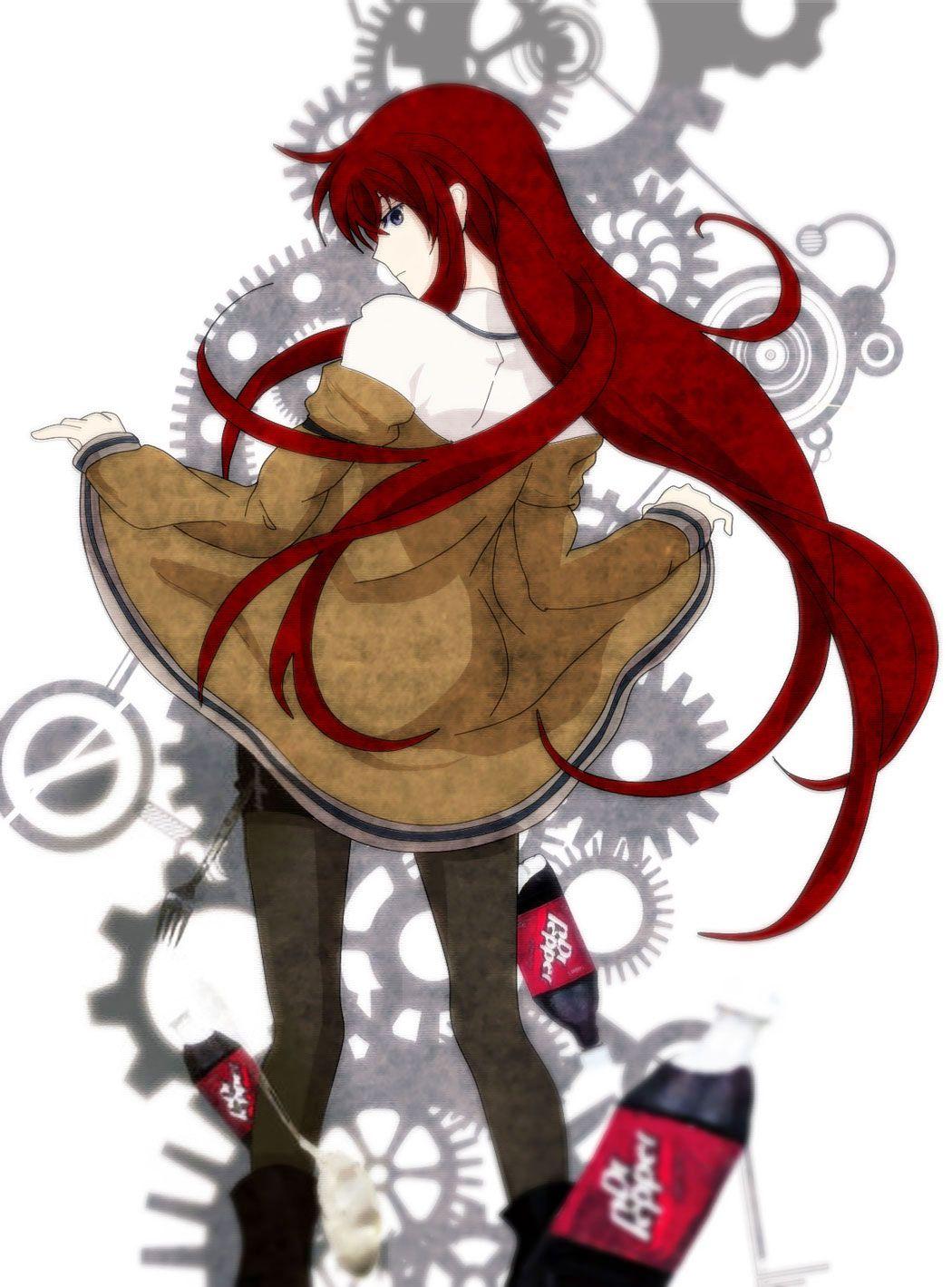 1girl dr_pepper gears highres long_hair monogatari_(series