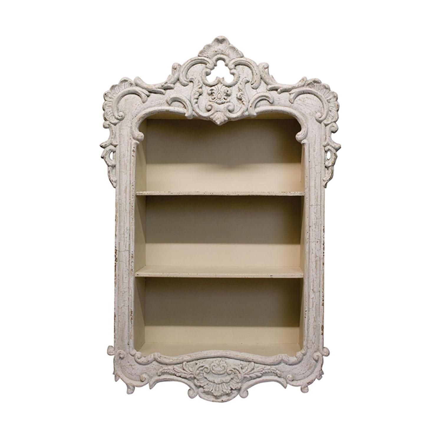 french country wall shelf achica shabby chic dresser on wall shelf id=65282