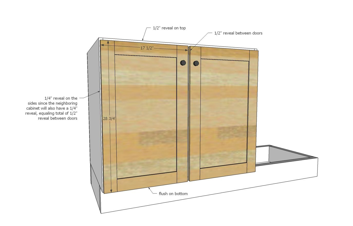 Euro Style Kitchen Sink Base Cabinet For Our Tiny House Kitchen