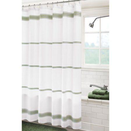 Home In 2020 Green Shower Curtains Shower Curtains Walmart Shower