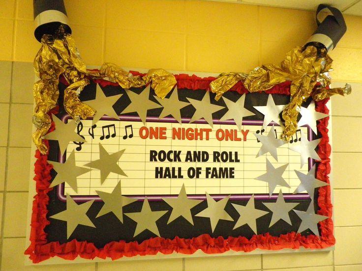 Teacher Door Poster Ideas Appreciation Rock Roll Rock Star Theme