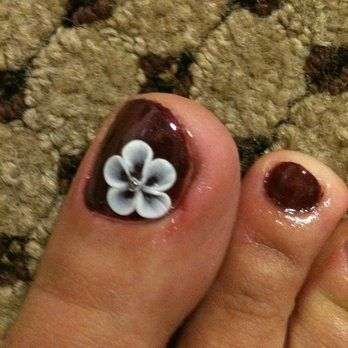 Simple Acrylic Nail Designs Plumeria Google Search