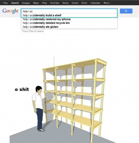Help I Accidentally Build A Shelf Fun Wtf Googlesearch Google