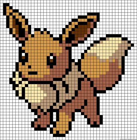 eevee pokemon perler bead pattern ideas pinterest
