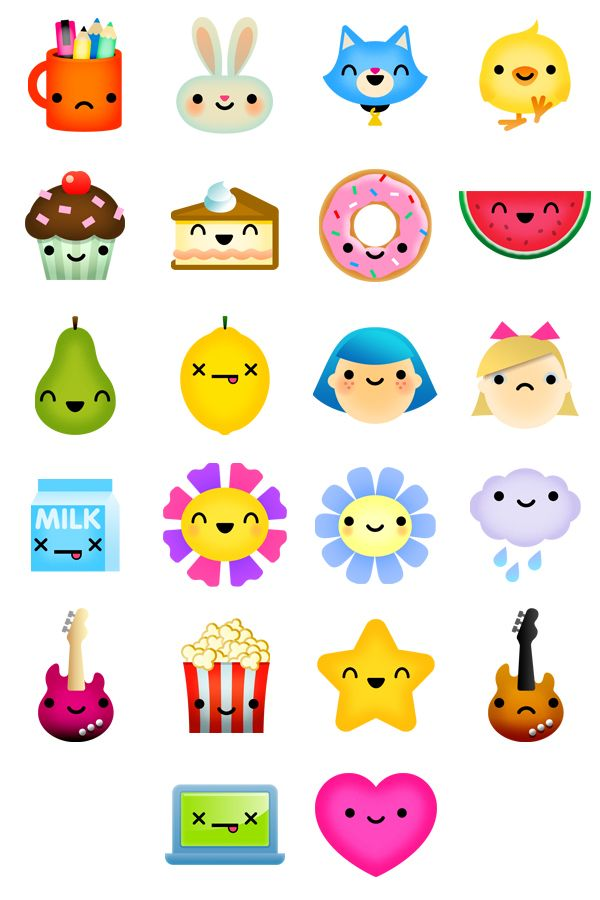 Cute Profile Pictures Set Designed For Disney D You An Online Community For Teens Agency Mutado Kawaii Stickers Cute Stickers Kawaii Doodles