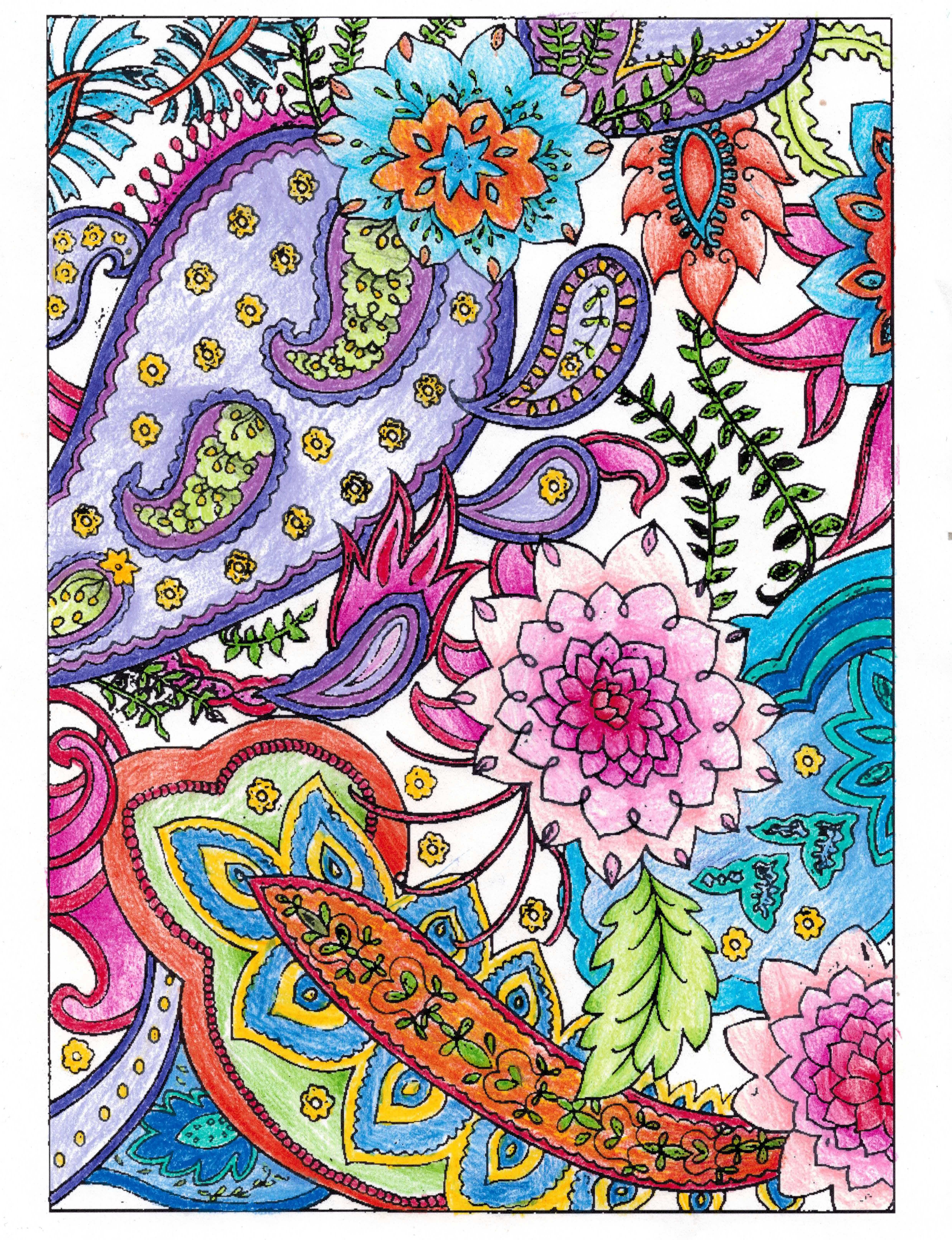 abby 18 division from paisley designs coloring book - Paisley Designs Coloring Book